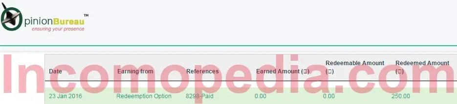 OpinionBureau Payment proof