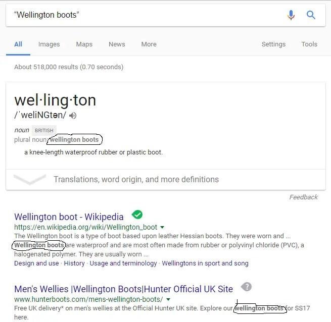 find exact phrase on google