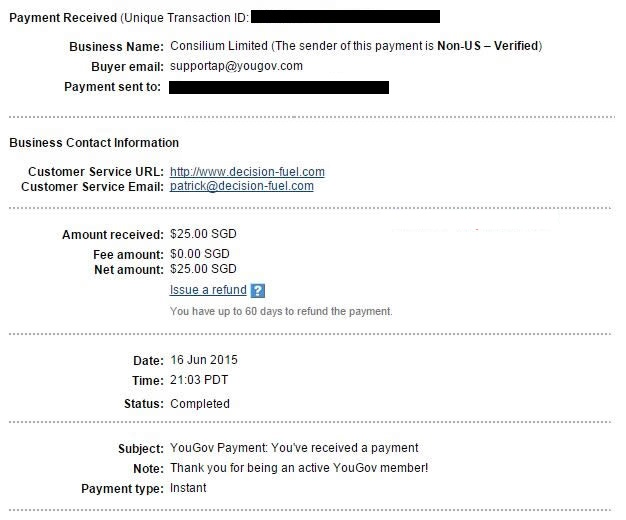 yougov payment proof