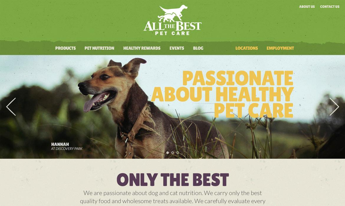 all the best pet care home page