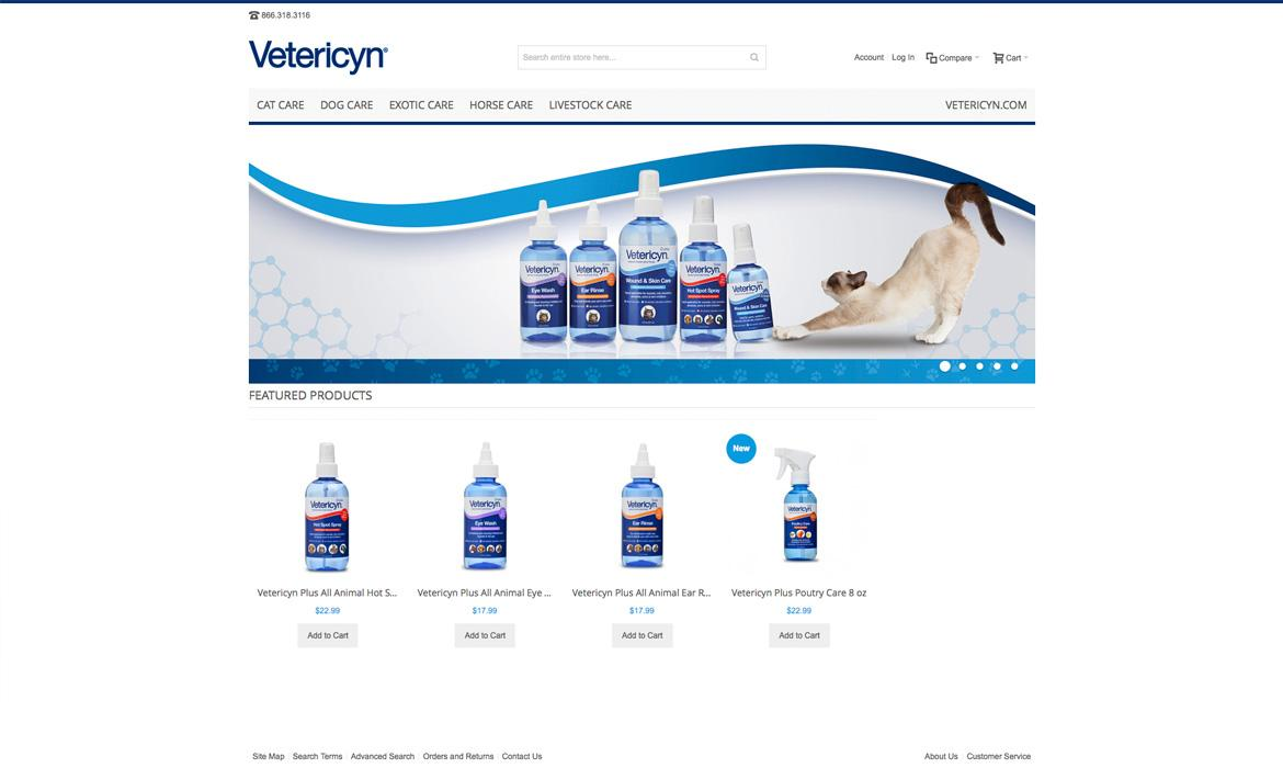 Vetericyn store home page