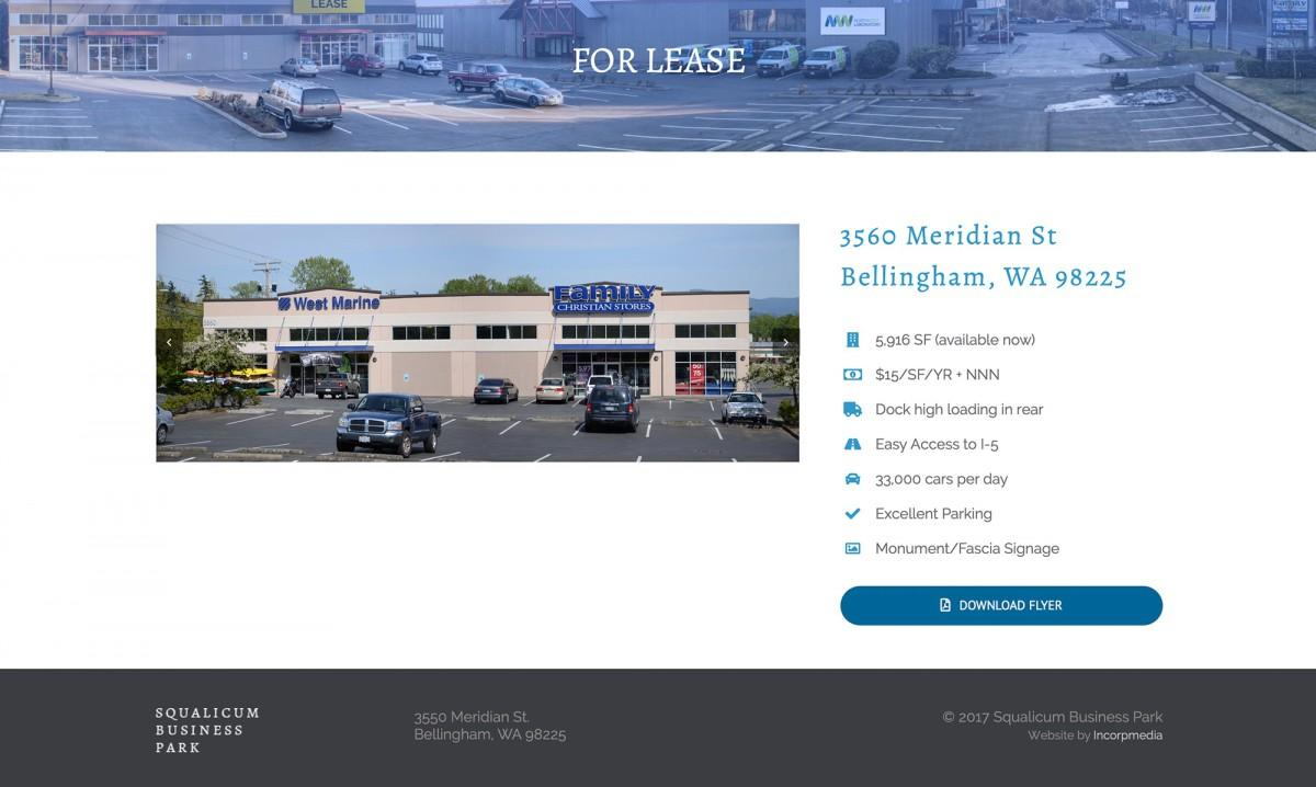 squalicum business park commercial real estate website design