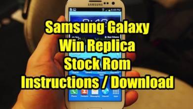 Photo of Samsung Galaxy Win Replica Stock Rom , Instruction + Download