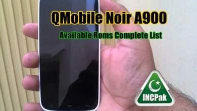 Photo of Qmobile Noir A900 Roms List