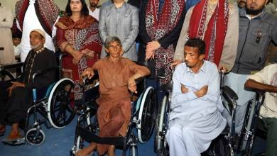 Photo of PPAF and MRDO donates 100 wheelchairs in Khairpur