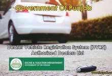 Photo of Dealer Vehicle Registration System (DVRS) – Authorized Dealers List