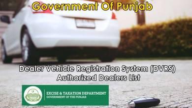 Photo of Dealer Vehicle Registration System (DVRS) – Authorized Dealers List