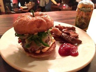 Late-night bites: the best burger in Asheville with a side of potato wedges at Rankin Vault Cocktail Lounge