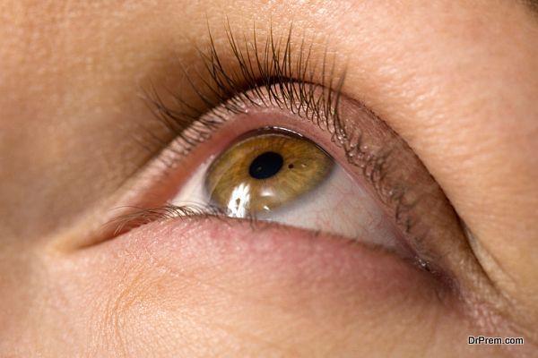 cornea of their eye