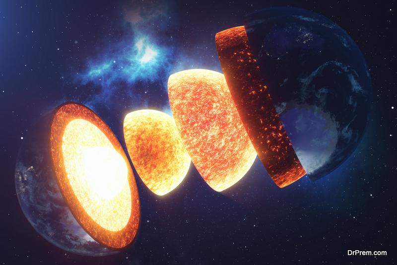 molten core of the earth