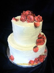 #261- Red and Silver Buttercream