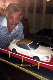 #344- Mr. Tony Orlando is one of our Biggest CFans and we are his! Here he shares his Jag Cake!