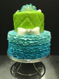 #452- Turquoise ruffles