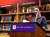 """Carley Moore, who brought the crowd, read Anne Waldman's """"How the Sestina (Yawn) Works."""""""