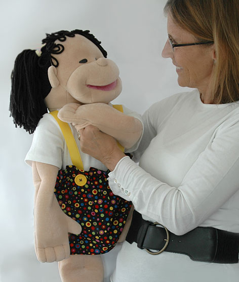 Carolyn with Molly Puppet