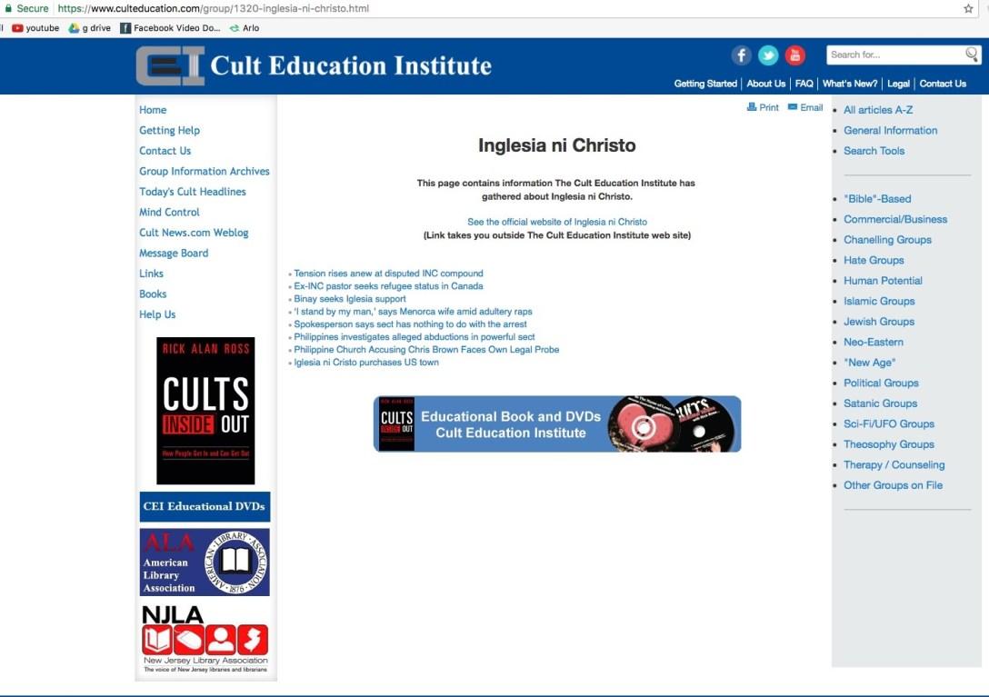 Cult Education 3
