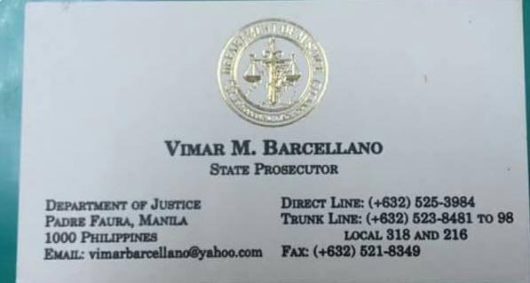 Vimar Barcellano Calling Card