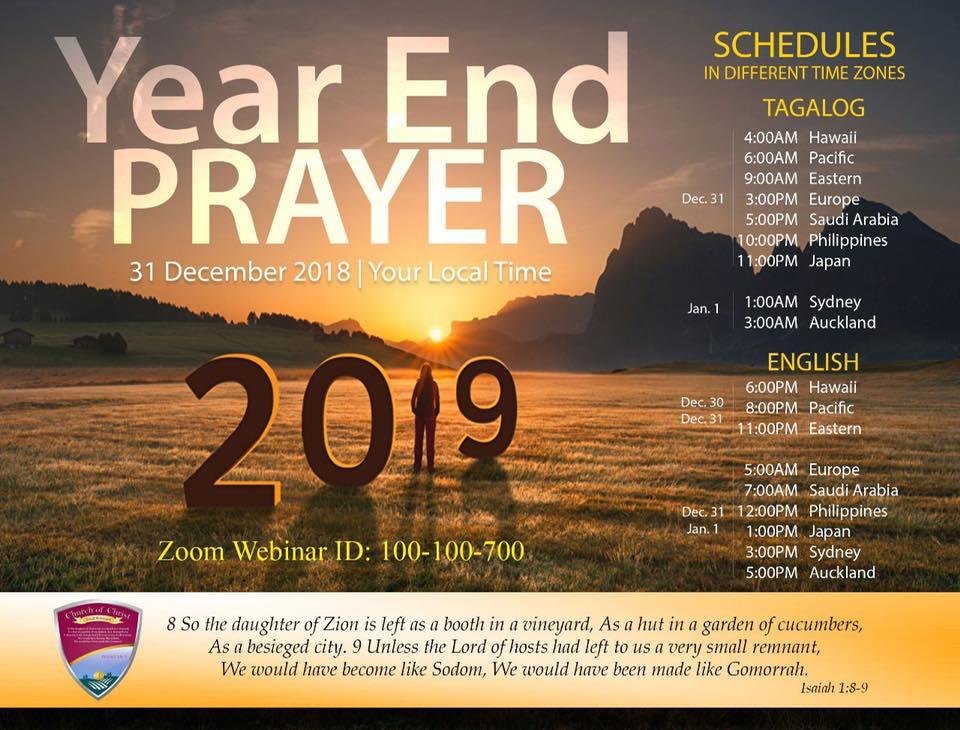 Year End Prayer