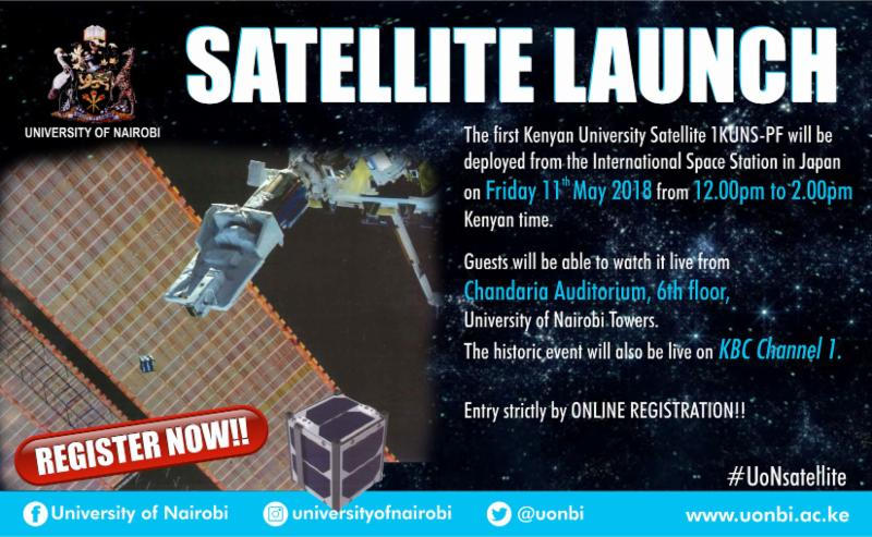 Satellite Launch Poster