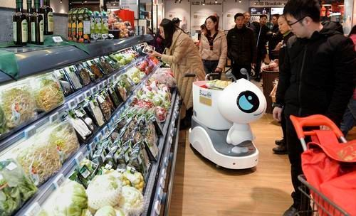 Shopping experience becoming fancier with smart cart (Chongqing, China)