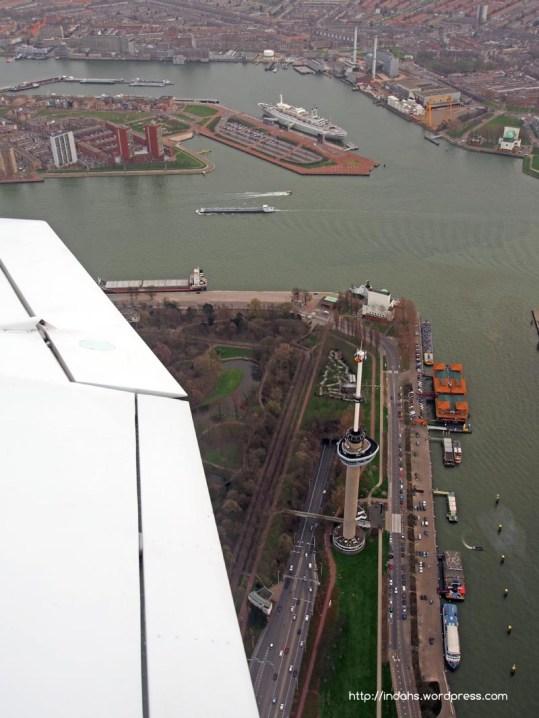 SS Rotterdam and Euromast