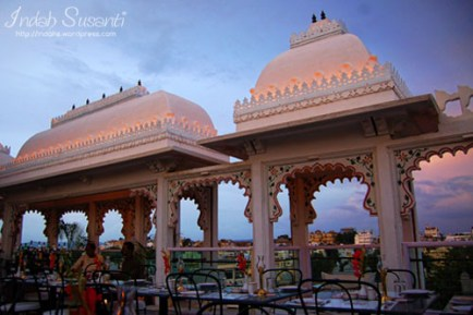Udai Kothi Hotel's rooftop restaurant