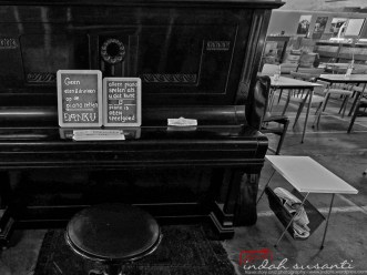 It says: only for those who know how to play a piano!