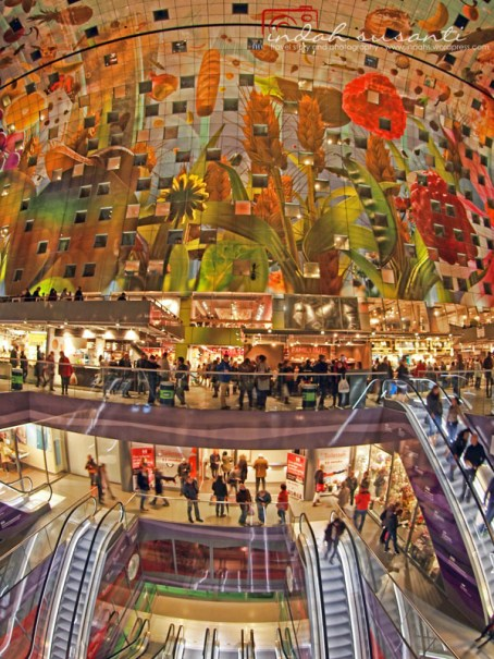 Inside of Markthal Rotterdam
