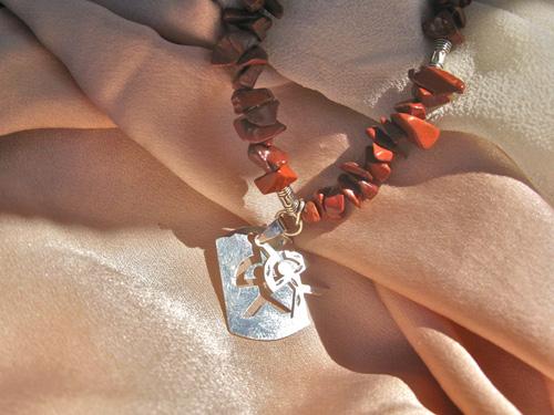 Red Jasper Indalo necklace