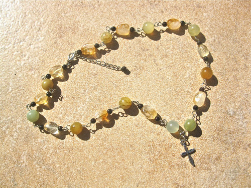 Citrine necklace for joy