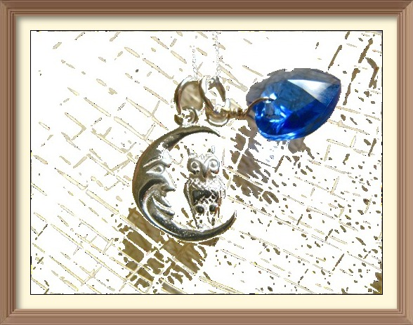 Moon Owl Birthstone jewellery