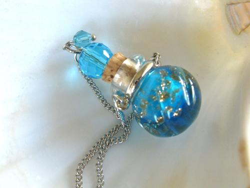 Lourdes vial lt blue