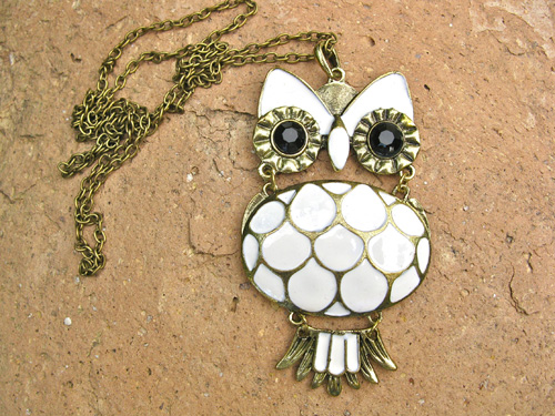 Inspirational owl necklace