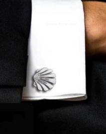 Camino de Santiago shell cufflinks