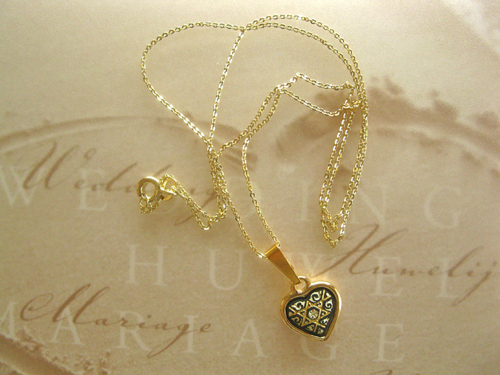 Damascene necklace gold