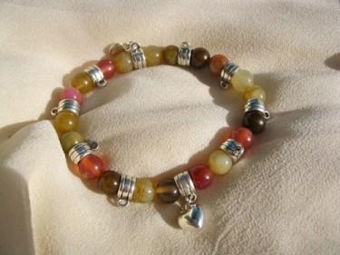 Jade love charm bracelet