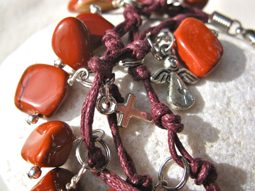 Angel and Cross charms bracelet