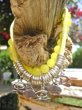 Believe charms bracelet