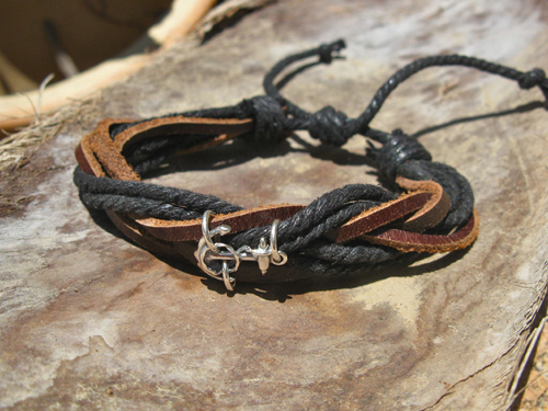 Anchor bracelet fathers gift