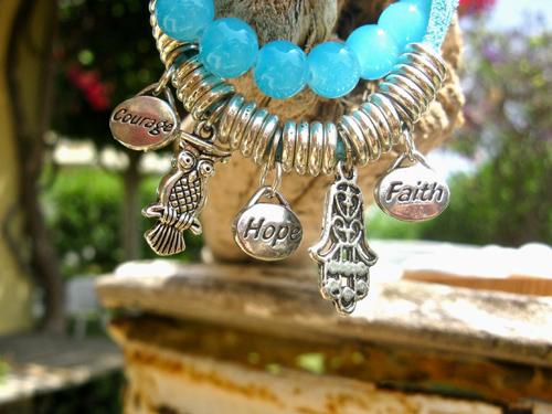 Word charm bracelet