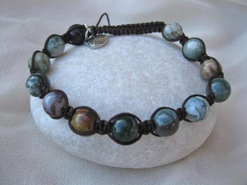 Agate Shambala courage bracelet