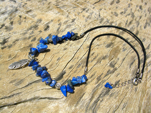 Sodalite necklace for luck