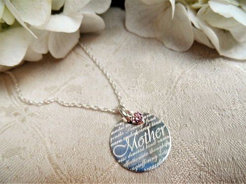 Thank you Mother necklace