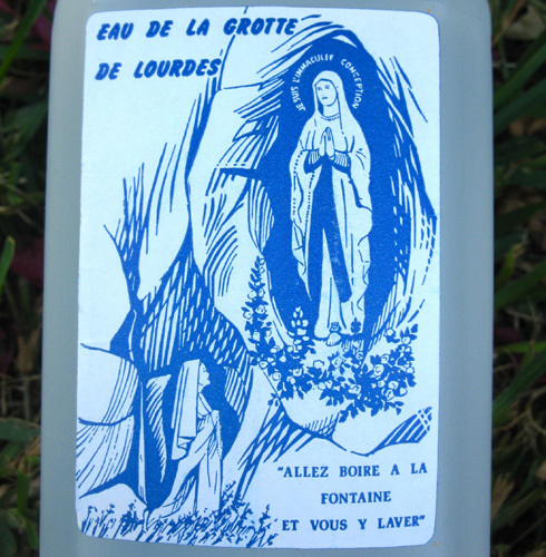 Lourdes water for health healing