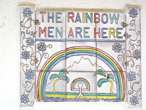 Rainbow Indalo symbol for health protection