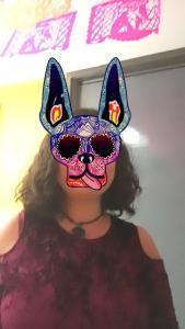 Máscara de xoloescuintle AR