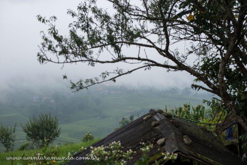 Nevoeiro matinal em Sapa