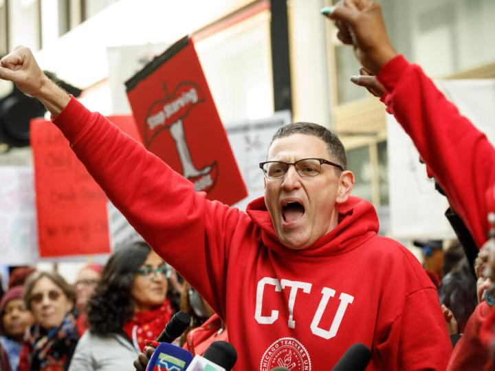 teacher protests in Chicago