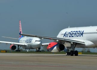 Aerodrom avion air serbia