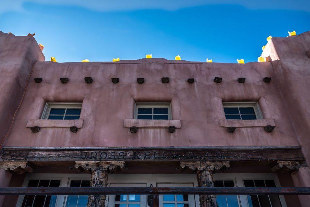 The adobe house in Santa Fe